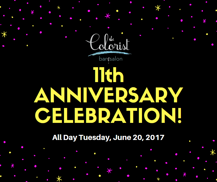 The Colorist Bar & Salon in Cleveland is Celebrating their 11th Anniversary!
