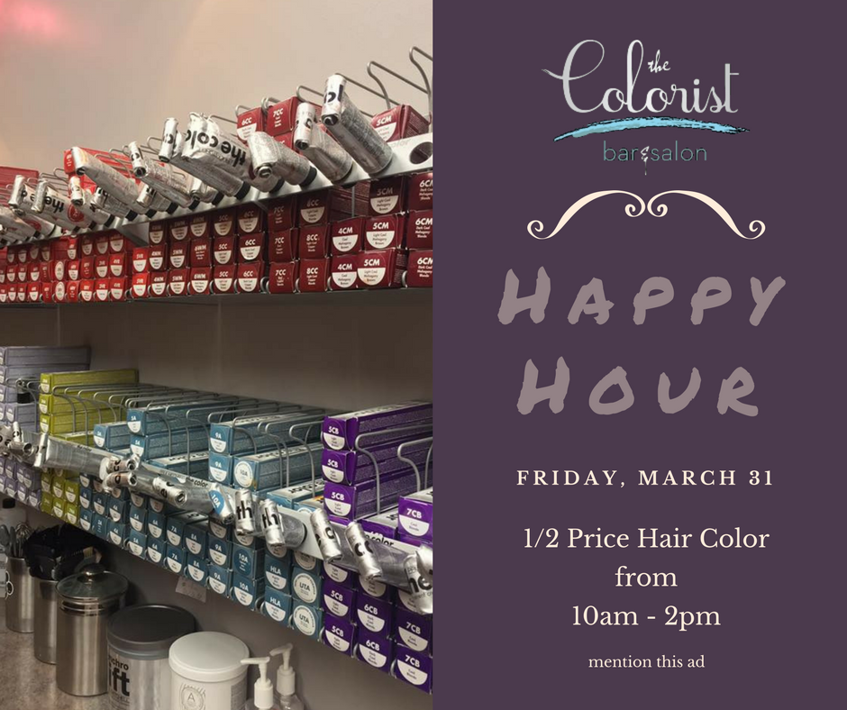 Get Cleveland's best hair color HALF OFF at The Colorist Hair Salon