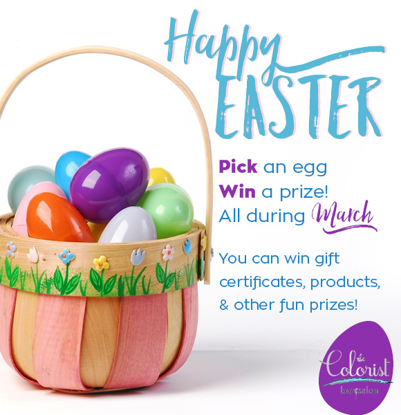 Stop by The Colorist Bar & Salon in the Cleveland area any day in March and pick and egg to win a prize!