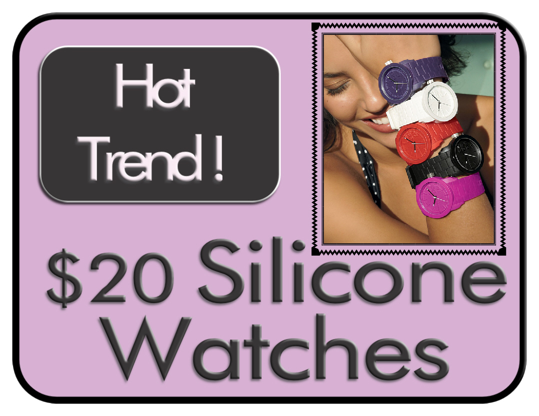 Silicone Watches at The Colorist Bar and Salon