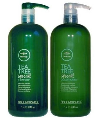 Paul Mitchell Tea Tree Shampoo and Conditioner liter duo pack at The Colorist Salon