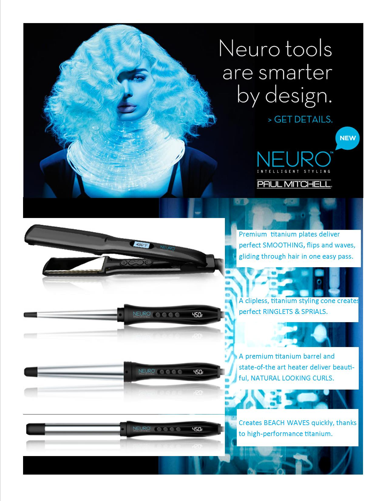 Neuro Styling Tools by Paul Mitchell at the Colorist Bar & Salo in Cleveland, OH